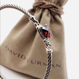 David Yurman Petite Wheaton Garnet Diam Bracelet